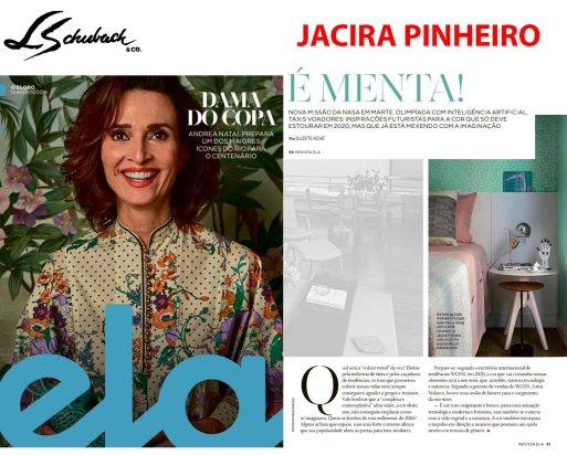 JACIRA PINHEIRO na REVISTA ELA, do jornal O GLOBO, em 12 de agosto de 2018 - 2