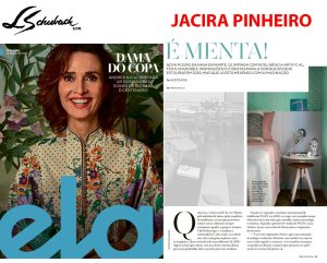 JACIRA PINHEIRO na REVISTA ELA, do jornal O GLOBO, em 12 de agosto de 2018