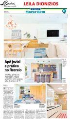 LEILA DIONIZIOS no caderno Morar Bem do jornal O Globo em 8 de julho de 2018