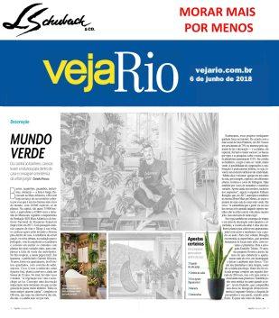 MORAR MAIS POR MENOS na revista Veja Rio de 6 de junho de 2018