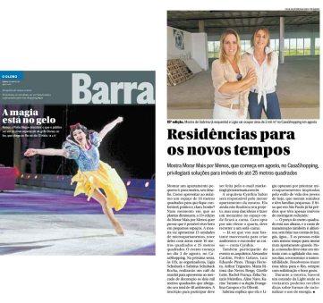 MORAR MAIS POR MENOS no caderno Barra, do Jornal O Globo, em 3 de junho de 2018