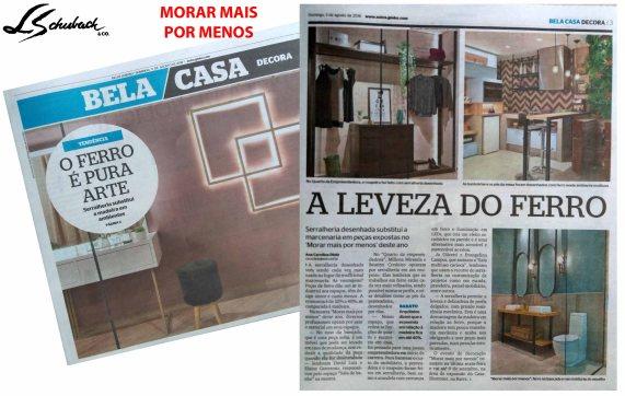 MORAR MAIS POR MENOS no caderno BELA CASA do jornal EXTRA de 5 de agosto de 2018