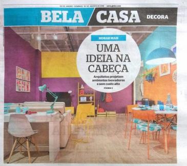 MORAR MAIS POR MENOS no caderno BELA CASA, do JORNAL EXTRA, em 19 de agosto de 2018 (1)-