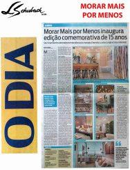 MORAR MAIS POR MENOS no caderno CASA do jornal O DIA de 5 de agosto de 2018