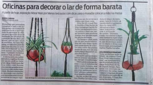 MORAR MAIS POR MENOS no caderno CASA, do JORNAL O DIA, em 19 de agosto de 2018