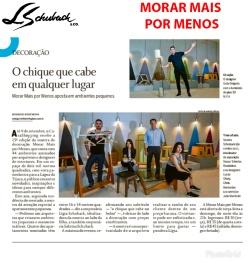 MORAR MAIS POR MENOS no caderno GLOBO BARRA, do Jornal O Globo, de 05 de agosto de 2018