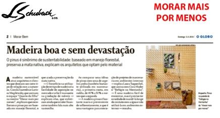 MORAR MAIS POR MENOS no caderno MORAR BEM, do Jornal O Globo, de 05 de agosto de 2018 - parte 2