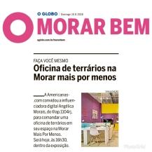 MORAR MAIS POR MENOS no caderno MORAR BEM, do JORNAL O GLOBO, em 19 de agosto de 2018