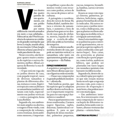 MORAR MAIS POR MENOS no caderno MORAR BEM, do jornal O GLOBO, em 27 de agosto de 2018 (2)
