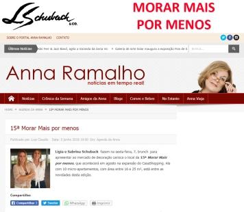 MORAR MAIS POR MENOS no site ANNA RAMALHO em 5 de junho de 2018