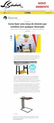 NOVO AMBIENTE na coluna CANTINHO DOS DESEJOS, do jornal O DIA, em 17 de junho de 2018 - site