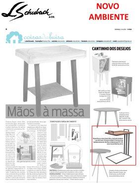 NOVO AMBIENTE na coluna CANTINHO DOS DESEJOS, do jornal O DIA, em 17 de junho de 2018