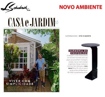 NOVO AMBIENTE na revista CASA E JARDIM em agosto de 2018