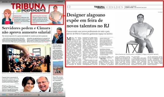 NOVOS TALENTOS BRASILEIROS no jornal Tribuna Independente em 2 de agosto de 2018