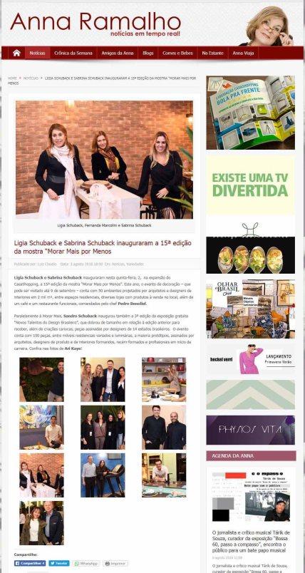 NOVOS TALENTOS BRASILEIROS no site Anna Ramalho em 3 de agosto de 2018