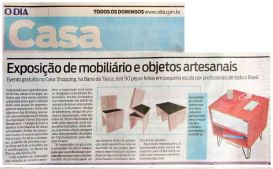 NOVOS TALENTOS BRASILEIROSno caderno CASA do jornal O DIA de 29 de agosto de 2018