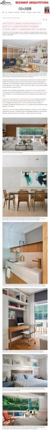 Projeto assinado pelas arquitetas CRISTINA e LAURA BEZAMAT no site da revista Casa e Jardim em 12 de junho de 2018