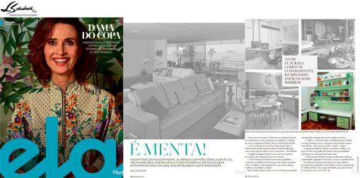 Projeto assinado pelas arquitetas ROBERTA MOURA e PAULA FARIA na revista Ela do jornal o Globo em 12 de agosto de 2018