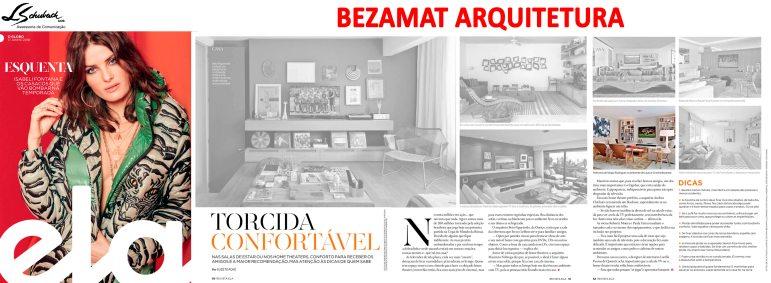 Projeto das arquitetas CRISTINA e LAURA BEZAMAT na revista Ela do jornal O Globo em 17 de junho de 2018