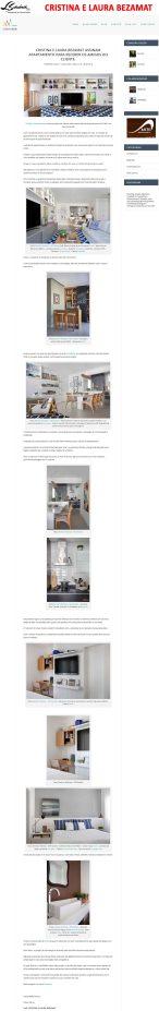 Projeto das arquitetas CRISTINA e LAURA BEZAMAT no site Conexão Décor em 11 de junho de 2018