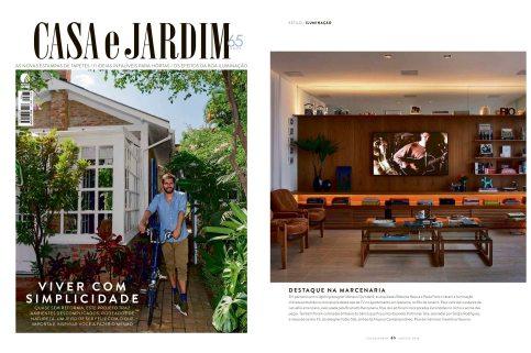 Projeto das arquitetas ROBERTA MOURA e PAULA FARIA na revista Casa e Jardim de agosto de 2018