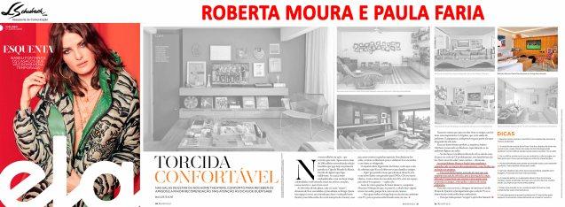 Projeto das arquitetas ROBERTA MOURA e PAULA FARIA na revista Ela do jornal O Globo em 17 de junho de 2018