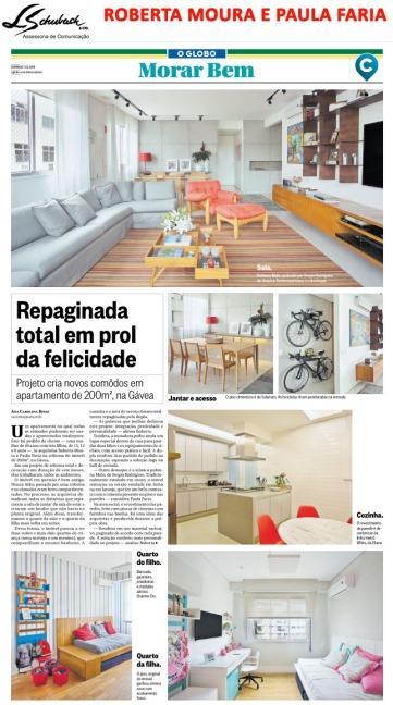Projeto das arquitetas ROBERTA MOURA e PAULA FARIA no caderno Morar Bem do jornal O Globo em 3 de junho de 2018