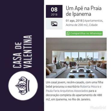 Projeto das arquitetas ROBERTA MOURA e PAULA FARIA no portal Casa de Valentina em 1 de agosto de 2018
