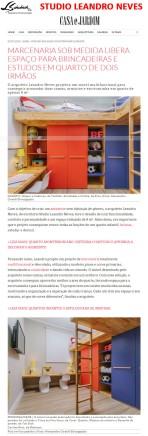 Projeto do arquiteto LEANDRO NEVES no site da revista Casa e Jardim em 5 de julho de 2018