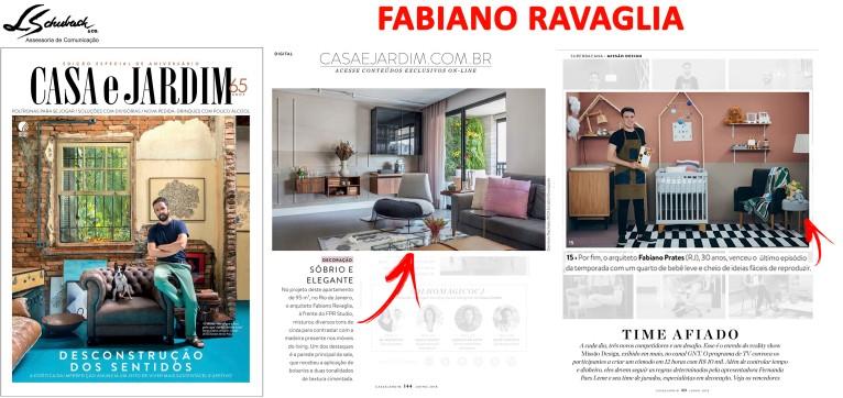 Projetos do arquiteto FABIANO RAVAGLIA na revista Casa e Jardim de junho de 2018_4