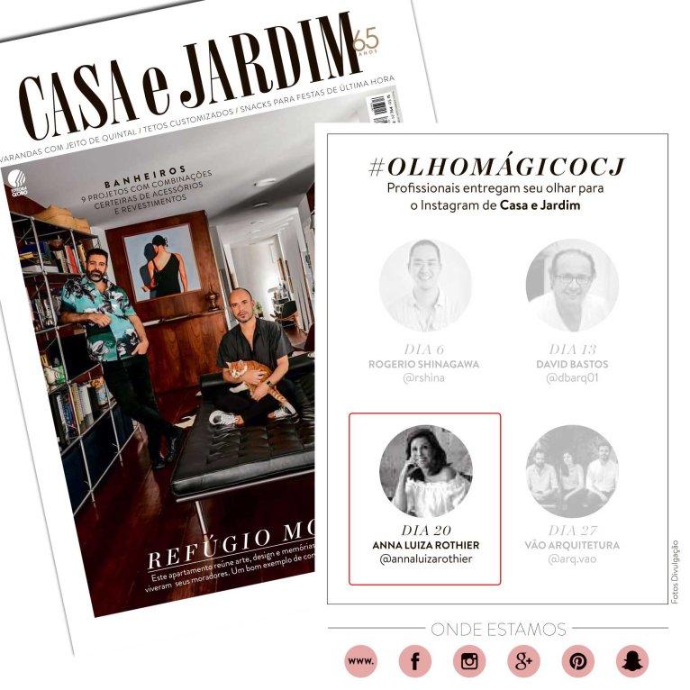 ANNA LUIZA ROTHIER na revista CASA E JARDIM de setembro de 2018