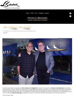 ARQUIVO CONTEMPORÂNEO na coluna digital de Patricia Brandão em 7 de setembro de 2018