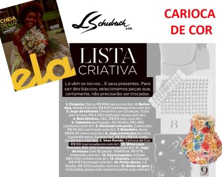 CARIOCA DE COR na ELA Revista, do jornal O Globo, em 30 de setembro de 2018