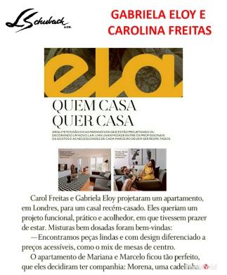 CAROL FREITAS E GABRIELA ELOY na ELA Revista, do jornal O Globo, em 30 de setembro de 2018