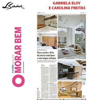 GABRIELA ELOY E CAROLINA FREITAS no caderno Morar Bem, do jornal O Globo, em 9 de setembro de 2018 (1)