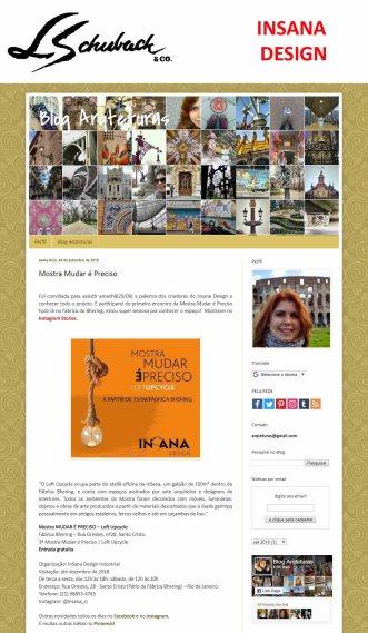 INSANA DESIGN no blog Arqteturas em 28 de setembro de 2018