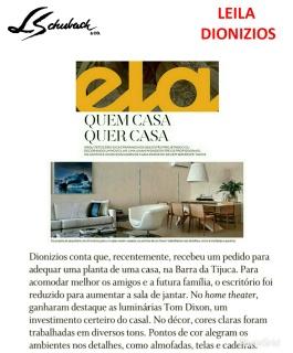 LEILA DIONIZIOS na ELA Revista, do jornal O Globo, em 30 de setembro de 2018
