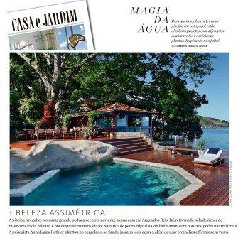 ANNA LUIZA ROTHIER na revista CASA E JARDIM em outubro de 2018 - INSTAGRAM