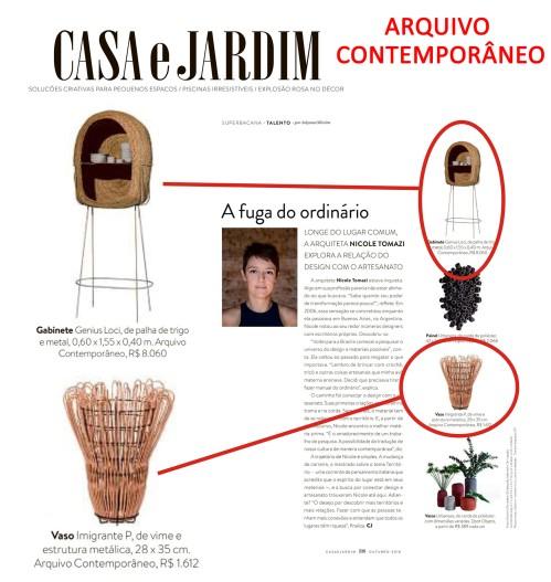 ARQUIVO CONTEMPORÂNEO na Casa & Jardim de outubro de 2018