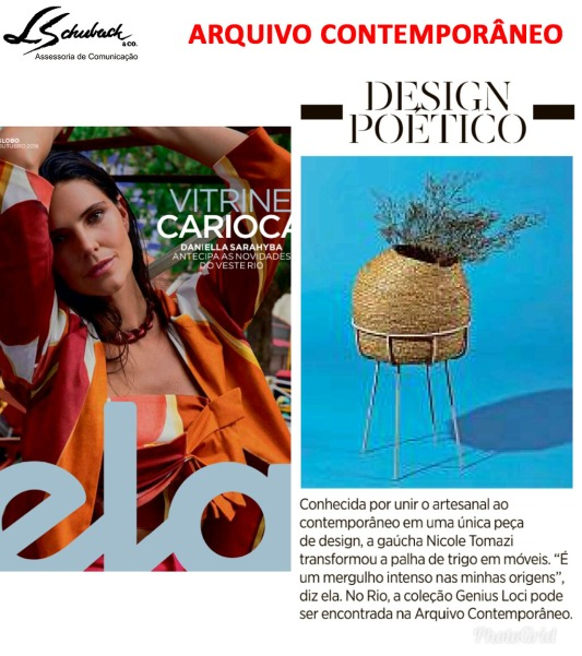 ARQUIVO CONTEMPORÂNEO na Revista ELA em 14 de outubro de 2018