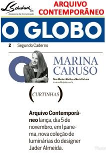 ARQUIVO CONTEMPORÂNEO no jornal O Globo em 31 de outubro de 2018