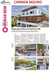 CARMEN MOURO no caderno MORAR BEM do jornal O GLOBO de 14 de outubro de 2018