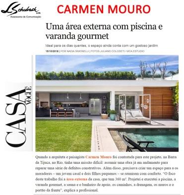 CARMEN MOURO no site da CASA VOGUE postado em 15 de outubro de 2018