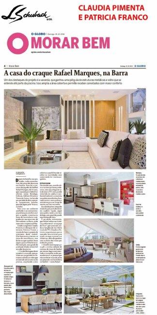 CLAUDIA PIMENTA e PATRICIA FRANCO no MORAR BEM do jornal O GLOBO de 28 de outubro de 2018