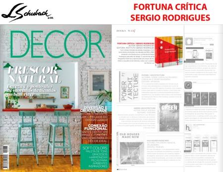 FORTUNA CRÍTICA - SERGIO RODRIGUES na revista DECOR em outubro de 2018