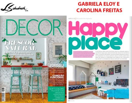 GABRIELA ELOY E CAROLINA FREITAS na revista DECOR em outubro de 2018
