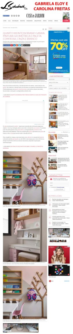 GABRIELA ELOY E CAROLINA FREITAS no site CASA E JARDIM em 9 de outubro de 2018