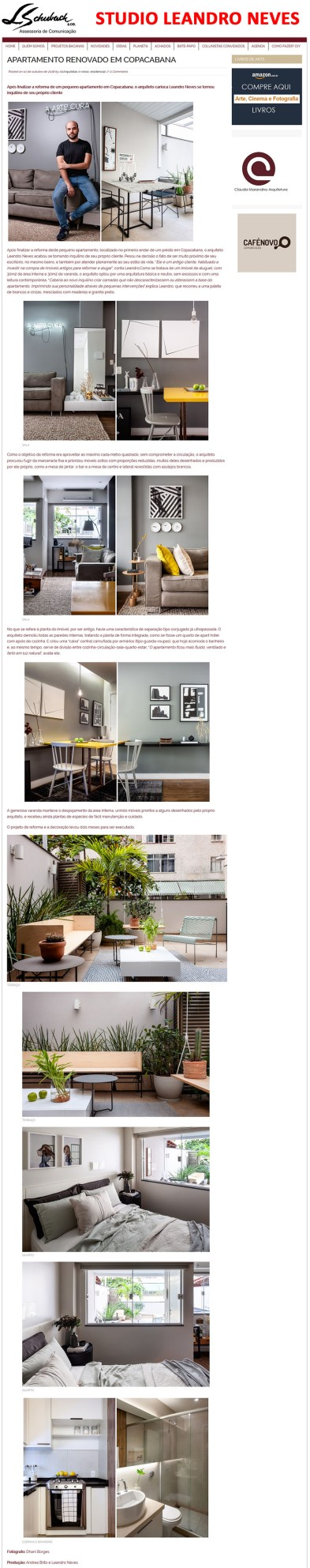 Projeto do arquiteto LEANDRO NEVES no site As Arquitetas em 10 de outubro de 2018