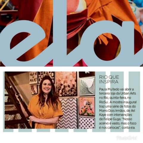 URBAN ARTS na revista ELA, do jornal O GLOBO, em 14 de outubro de 2018