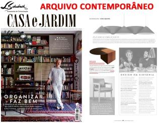 ARQUIVO CONTEMPORÂNEO na revista Casa e Jardim de novembro de 2018